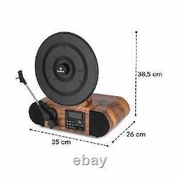 Auna Verticalo SE DAB Retro Turntable DAB+ FM tuner USB BT AUX wood