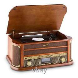 B-Stock Retro Turntable DAB Radio Bluetooth Stereo CD Player Cassette USB Reco