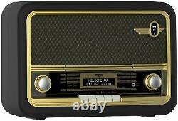 Bush Classic Super Retro Bluetooth DAB Radio Brown