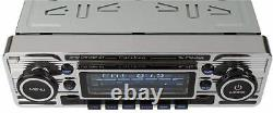 CALIBER RMD120DAB-BT USB DAB+ Retro Classic Oltimer Autoradio Chrom mit Antenne