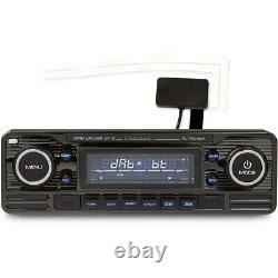 Caliber Retro Car Stereo Black DAB Radio Bluetooth SD USB AUX RMD120DAB-BT/B