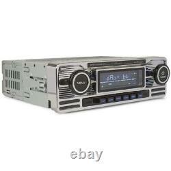 Caliber Retro Car Stereo Chrome DAB Radio Bluetooth SD USB AUX RMD120DAB-BT