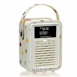 DAB+ Radio Bluetooth FM Alarm Retro Mini by VQ Emma Bridgewater Polka Dot
