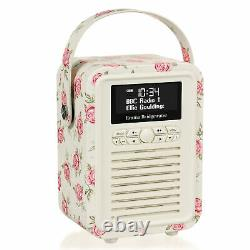 DAB+ Radio Bluetooth FM Alarm Retro Mini by VQ Emma Bridgewater Rose & Bee