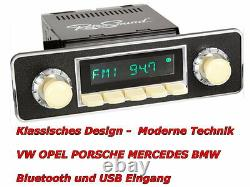 DAB USB MP3 Retro Design Oldtimer Autoradio VW Käfer 1968 bis 1985 Bluetooth