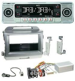 Dietz Bluetooth MP3 DAB USB Autoradio für Kia Sportage 3 10-15 Navi silber