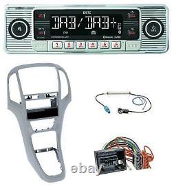 Dietz Bluetooth MP3 DAB USB Autoradio für Opel Astra J ab 2009 Platin silber