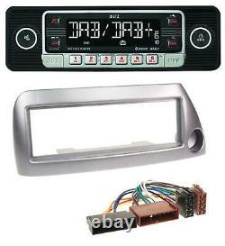 Dietz USB DAB MP3 Bluetooth Autoradio für Ford Ka bis 2008 silber-metallic