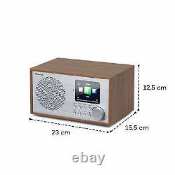 Internet Radio DAB Wi fi Bluetooth Home audio Portable FM Tuner Alarm Oak Retro