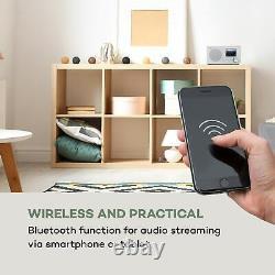 Internet Radio DAB Wi fi Bluetooth USB Home audio Portable FM Alarm Retro White