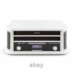 REFURB. Retro turntable Vinyl Stereo System Bluetooth DAB Radio MP3 Recorder USB