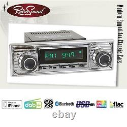 RETROSOUND DAB+ Set RSD-CHROME-6 mit Zubehör Autoradio für Oldtimer und US-Cars