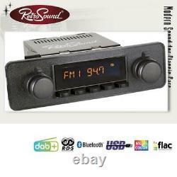 RETROSOUND RSD-BLACK-7 MOTOR-7 DAB+ Komplett Set Black Autoradio für Oldtimer