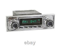RETROSOUND RSD-CHROME-7 MOTOR-7 DAB+ Komplett-Set Chrome Autoradio für Oldtimer
