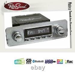 RETROSOUND RSD-SILVER-7 MOTOR-7 DAB+ Komplett Set Silver Autoradio für Oldtimer