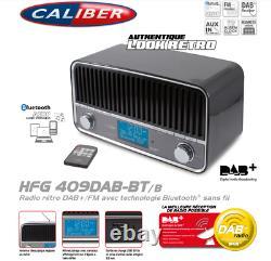 Radio Salon Vintage Look Rétro DAB+/FM Technologie Bluetooth Sans Fil Caliber