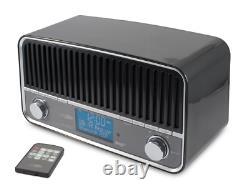 Radio Salon Vintage Look Rétro DAB FM Technologie Bluetooth Sans Fil Caliber
