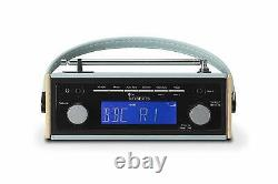 Rambler BT Retro/Digital Portable Bluetooth Radio with DAB/DAB+/FM RDS Blue