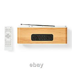 Retro Internet Radio 34W Digital DAB+ FM Hi-Fi System Wifi Bluetooth Wood Effect