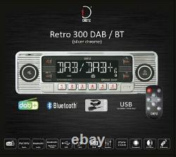 Retro Look Autoradio USB SD/MMC MP3 Player mit Bluetooth A2DP Radio + FB Chrom