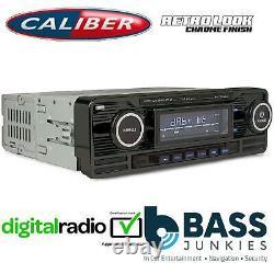 Retro Style DAB BLUETOOTH USB 75x4W Car Stereo Radio Player BLACK RMD120DAB-BT/B