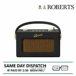 Roberts Compact Radio DAB DAB+ FM Revival Uno Black Tow Year Warranty