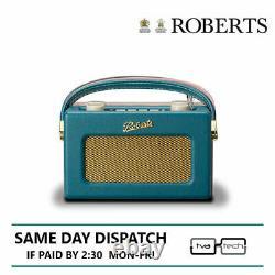 Roberts Digital Compact Radio DAB DAB+ FM with Alarm Teal Blue UNO
