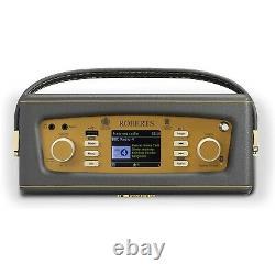 Roberts Revival iStream3 Portable Retro Smart Digital Radio Charcoal Grey