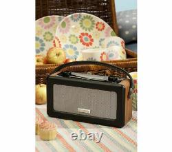 Roberts Vintage Portable Retro Dab Fm Digital Radio Mains Or Battery LCD Display