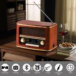 Shuman Retro Wood FM/DAB+(Plus) Digital Radio Loud Volume with Wireless