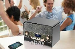 Technaxx Retro DAB +/FM Stereo Radio with CD Player & USB Bluetooth Recording P
