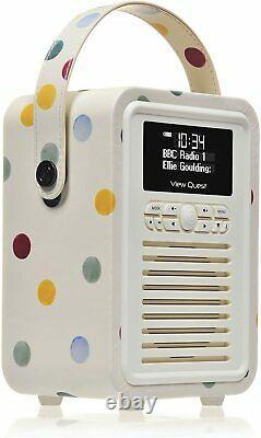 VQ Portable Retro Mini DAB and DAB+ Digital Radio with FM, Bluetooth, Aux, USB