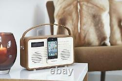 VQ View Quest Retro Emma Bridgewater DAB+ Radio with 30-Pin Dock Brown