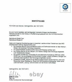 VW 411 412 Becker Oldtimer Voiture Radio DAB+ USB Bluetooth Rétro Optique Design