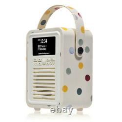ViewQuest VQMINIEBPD Emma Bridgewater Retro Mini DAB Radio in Polka Dot