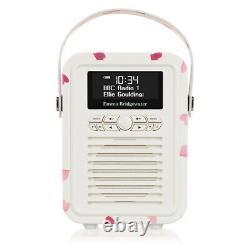 ViewQuest VQMINIEBPH Emma Bridgewater Retro Mini DAB Radio in Pink Hearts