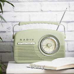 Akai A60010vdabsg Portable Vintage Style Dab Radio En Sage Vert Nouveau