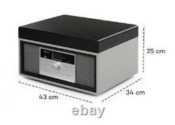 Auna Mary Ann Record Player Retro Turntable, Dab+, Fm Radio