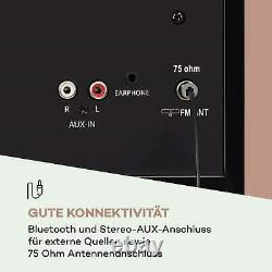 B-stock Rétro Dab CD Radio Bluetooth Usb Portable Mp3 Lecteur LCD Alarme