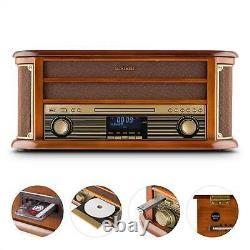 B-stock Retro Turntable Dab Radio Bluetooth Lecteur De CD Stéréo Cassette Usb