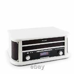 B-stock Table Tournante Rétro Vinyl Stereo System Bluetooth Dab Radio Mp3 Recorder U