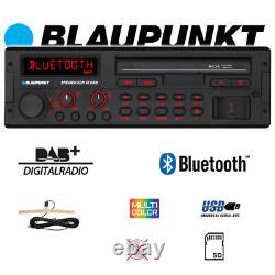 Blaupunkt Brema Sqr 46 Dab Bluetooth Radio Digitale Dab+ Mp3 Usb Retro Autoradio