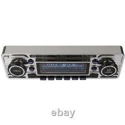 Calibre Rétro Voiture Stereo Chrome Dab Radio Bluetooth Sd Usb Aux Rmd120dab-bt