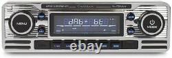 Calibre Rmd120dab-bt Usb Dab+ Retro Classic Oltimer Autoradio Chrom Mit Antenne