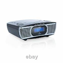 Dab CD Radio Clock Mp3 Player Retro Home Audio Portable LCD Display Noir