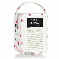Dab+ Radio Bluetooth Fm Alarme Retro Mini Par Vq Emma Bridgewater Pink Heart
