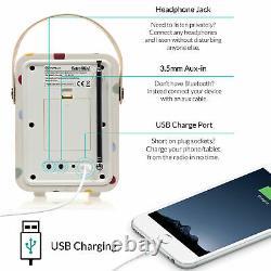 Dab+ Radio Bluetooth Réveil Fm Retro Mini Par Vq Emma Bridgewater Polka Dot