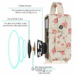 Dab+ Radio Bluetooth Réveil Fm Retro Mini Par Vq Emma Bridgewater Rose & Bee