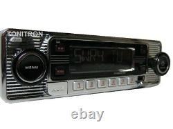 Dietz 300 Classic Oldtimer Youngtimer Rétro Radio Dab+ Autoradio Usb Auxin Chrom