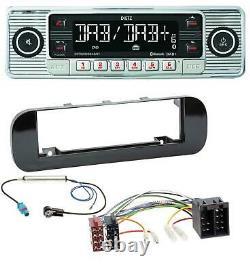 Dietz Bluetooth Mp3 Dab Usb Autoradio Für Fiat Panda (ab 2012) Gliänzend